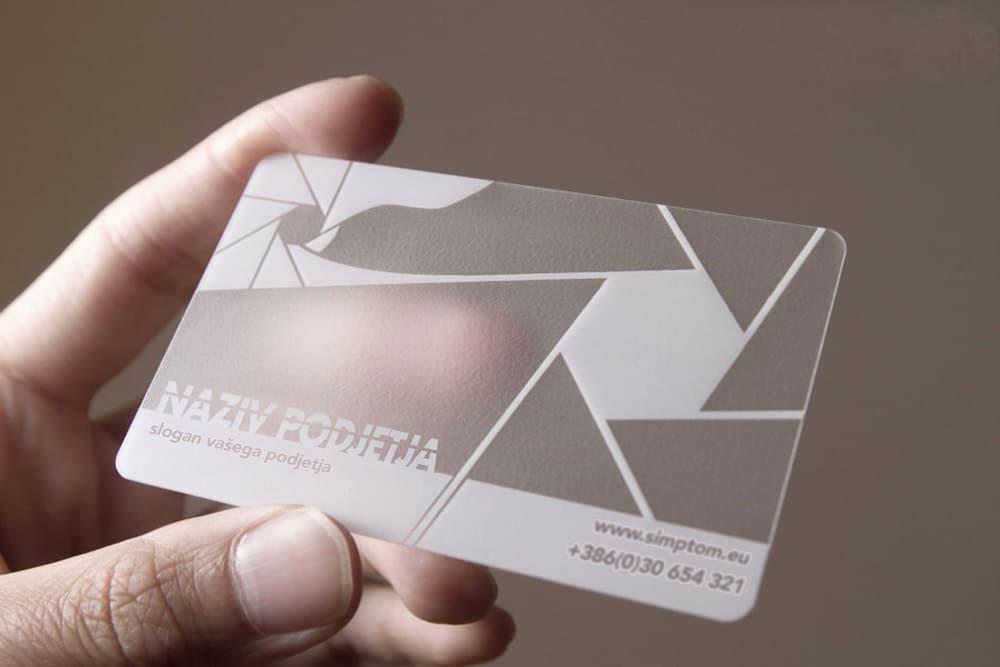 NFC poslovna vizitka simptom