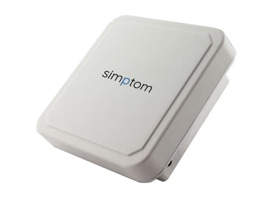 simptom RFID antena reader